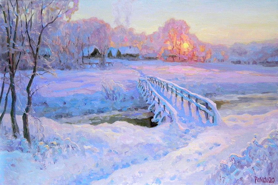 Frost. Evening. Bridge, Rem Saifulmulukov