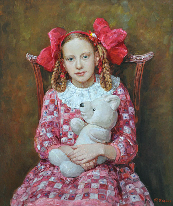Girl with bows, Yuri Kudrin