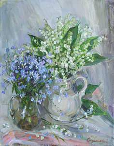 Lilies of the valley and forget-me-nots
