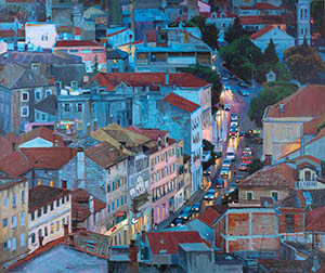 Evening Sibenik. The street of King Zvonimir