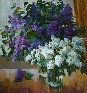 Lilac near the window