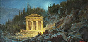 Night motif. Treasury of the Athenians in Delphi