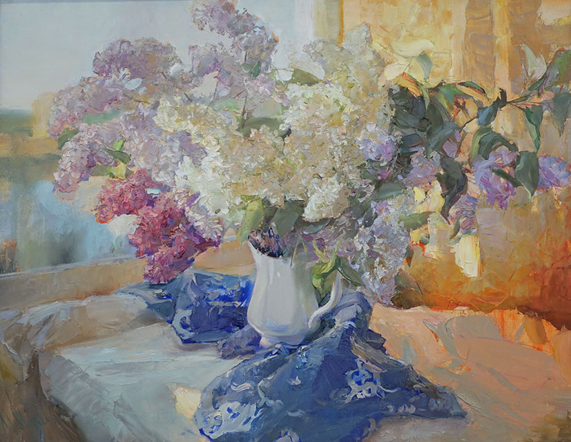 Lilac by the window, Maria Sherbinina