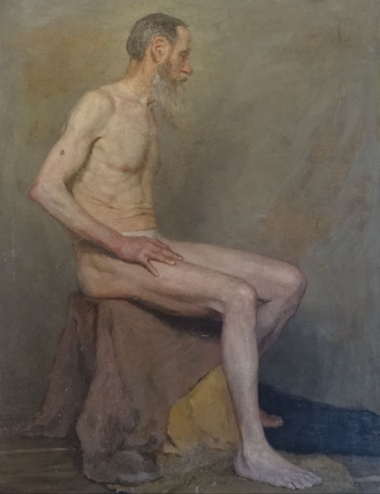 The naked (Smukrovich Petr Petrovich, 1926-1998), ArtRussia Collection- nude male nature painting, realism