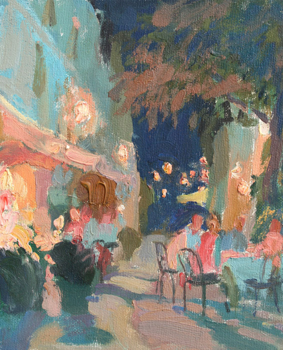 French cafe, Igor Larionov