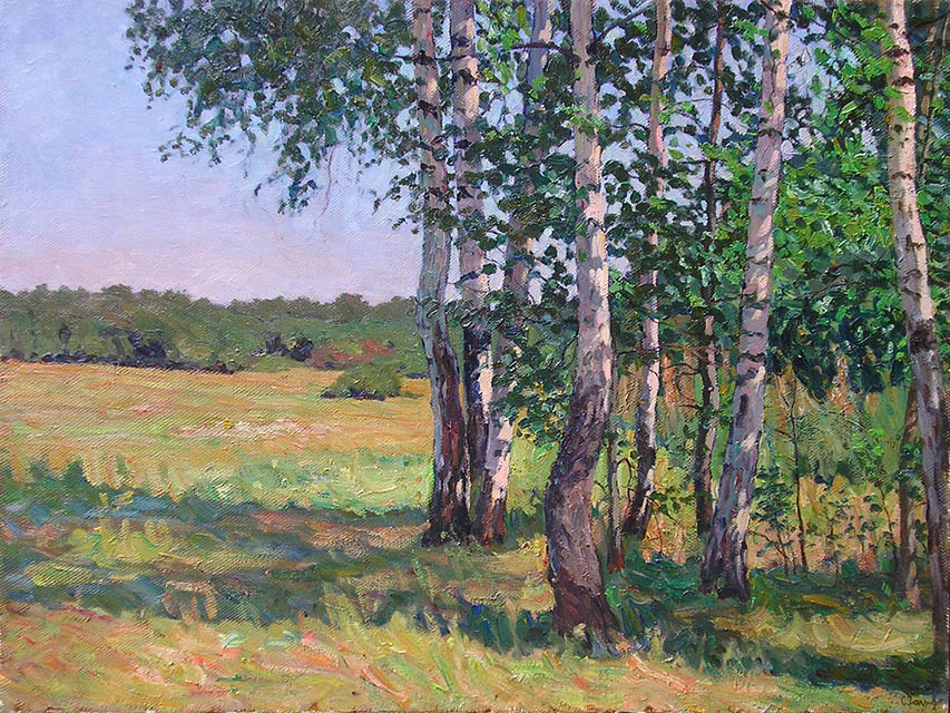 Young birch trees, Sergei Chaplygin