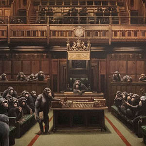 The painting of a caricature of the British Parliament went under the hammer for £ 9.9 million in London