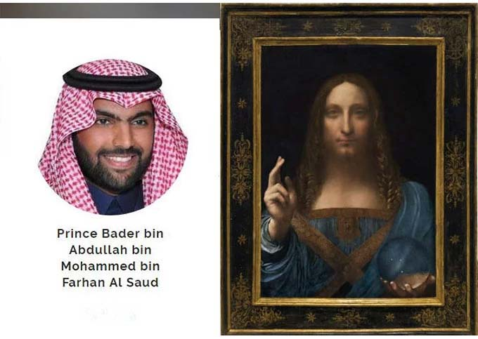 Mystery buyer of $450 million 'Salvator Mundi' was a Saudi Prince Bader bin Abdullah bin Mohammed bin Farhan al-Saud
