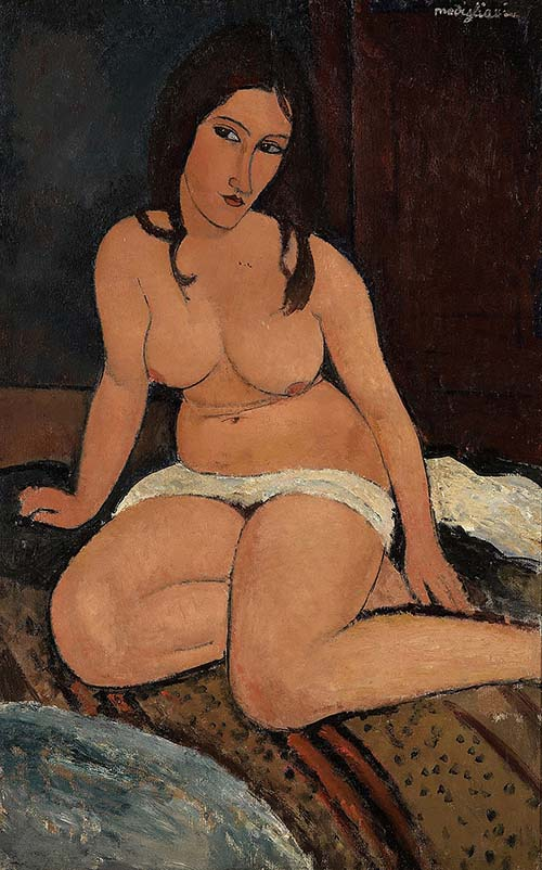 An exhibition of 100 masterpieces by Modigliani opened in London's Tate Gallery