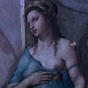 Restoration on the Vatican's frescoes has unveiled two new paintings by Raphael from 500 years ago