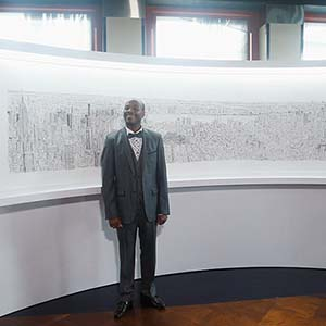 British autistic artist Stephen Wiltshire created a one-of-a-kind sketch of the New York City skyline from memory