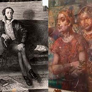 Experts found under the upper layer of the painting by Kuzma Petrov-Vodkin a previously painted portrait of Alexander Pushkin