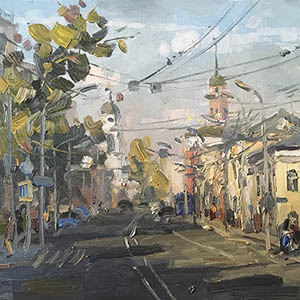 Modern Moscow on the canvases of Oleg Leonov at an exhibition in the Central House of Artists