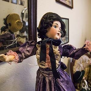An exhibition of antique dolls