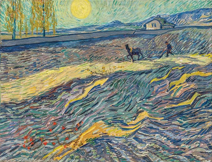 "The painting of Van Gogh ""Enclosed Field with Ploughman"" sold at auction Christie's for 81.3 million dollars"