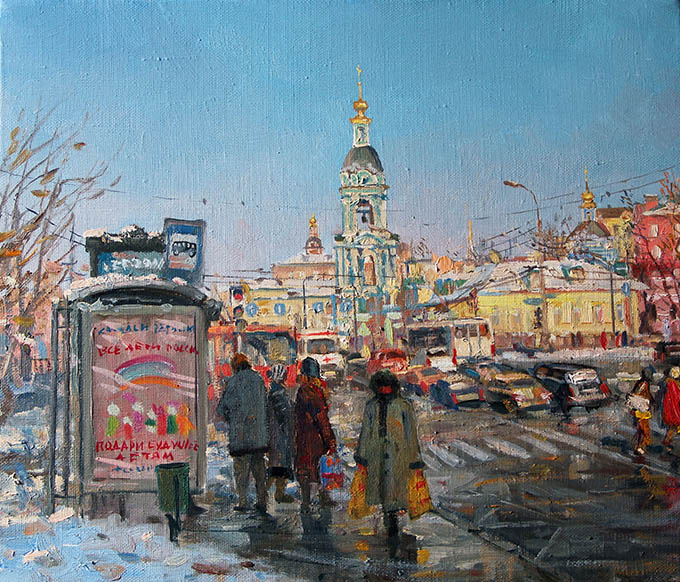 "The exhibition ""Moscow and Muscovites"" in the interiors of Natalia Leonova and the landscapes of Oleg Leonov opens in Moscow"
