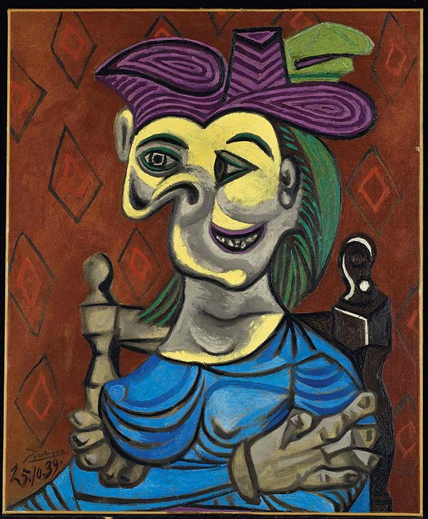 Pablo Picasso topped the list of the most sought-after artists of art market