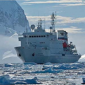 First Antarctic Biennale began work on the ship