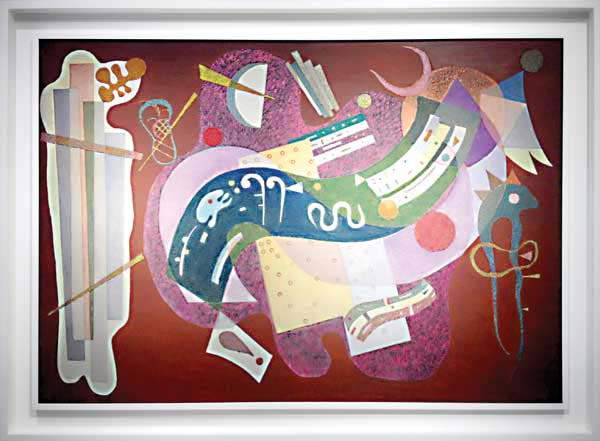 "The painting by Kandinsky ""Stiff and bent"" will be the top lot of the auction Christie's"
