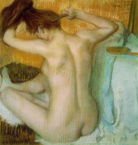 Woman Combing Her Hair, 1886, Degas Edgar, Hermitage, St. Petersburg paintings to artist of ArtRussia