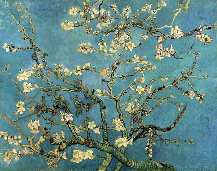 Branches With Almond Blossom, 1890, Van Gogh Vincent, Van Gogh Museum, Amsterdam, Netherlands paintings to artist of ArtRussia