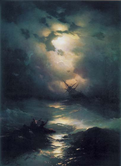 Storm on the North Sea, 1865, Aivazovskiy Ivan, Feodosia art gallery paintings to artist of ArtRussia