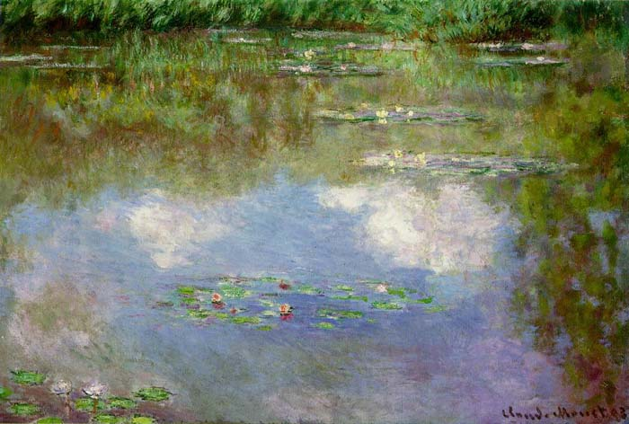 Water Lilies (Clouds), 1903, Monet Claude, Private collection paintings to artist of ArtRussia