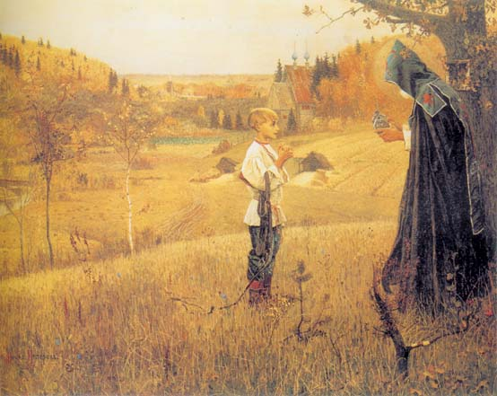 The Vision to the Boy Bartholomew, 1890, Nesterov Mikhail, The Tretyakov Gallery, Moscow paintings to artist of ArtRussia