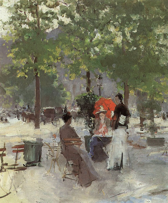 The Parisian cafe, 1890, Korovin Konstantin, The Tretyakov Gallery, Moscow paintings to artist of ArtRussia