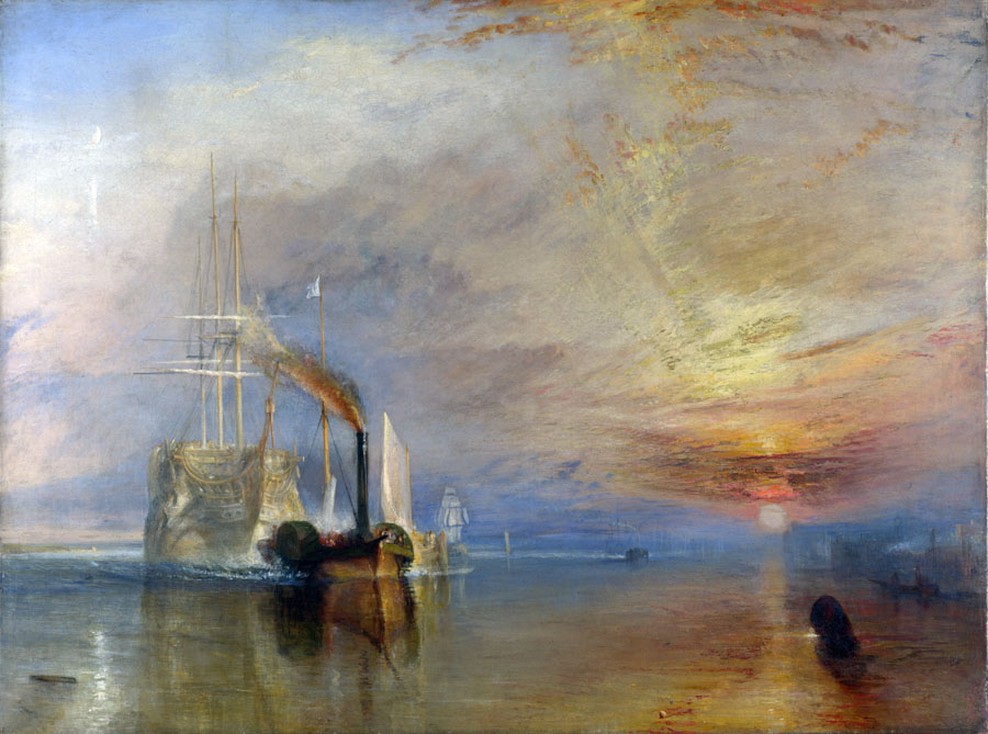 The Fighting Temeraire, 1839, Turner William, National Gallery, London paintings to artist of ArtRussia