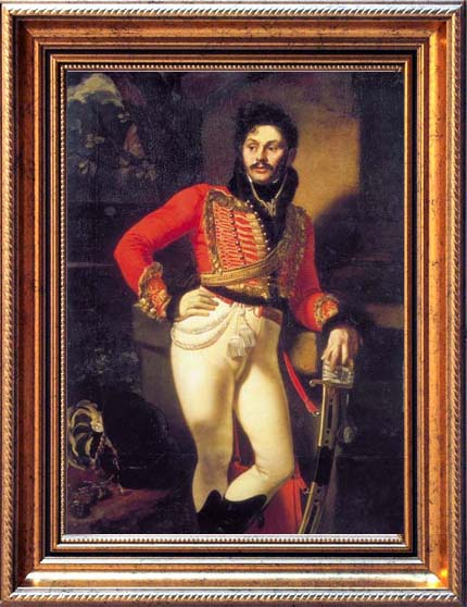 Portrait of Evgraf Davydov, 1809, Kiprensky Orest, The Russian Museum, St.Petersburg paintings to artist of ArtRussia