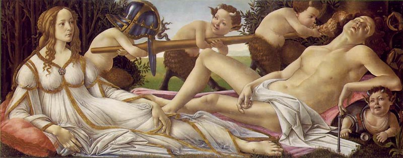 Venus and Mars, 1485, Botticelli Sandro, National Gallery, London paintings to artist of ArtRussia