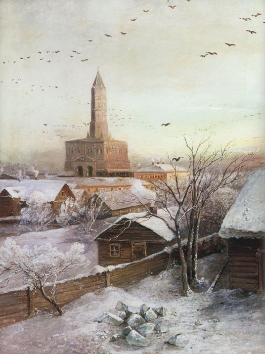 Suharev`s tower, 1872, Savrasov Alexei, The State Historical Museum paintings to artist of ArtRussia