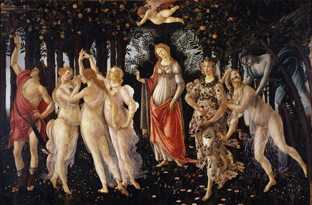 Spring (Primavera), 1482, Botticelli Sandro, Uffizi Gallery, Florence paintings to artist of ArtRussia
