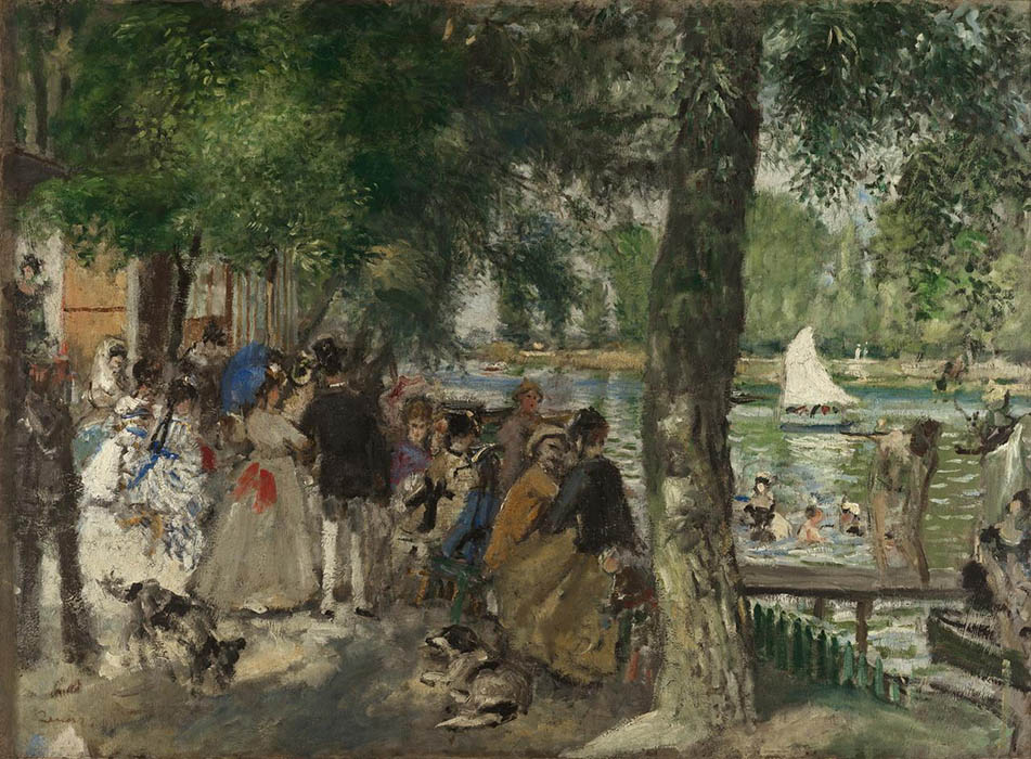 Bathing on the Seine (Paddling), 1869, Renoir Pierre-Auguste, Pushkin Museum, Moscow paintings to artist of ArtRussia