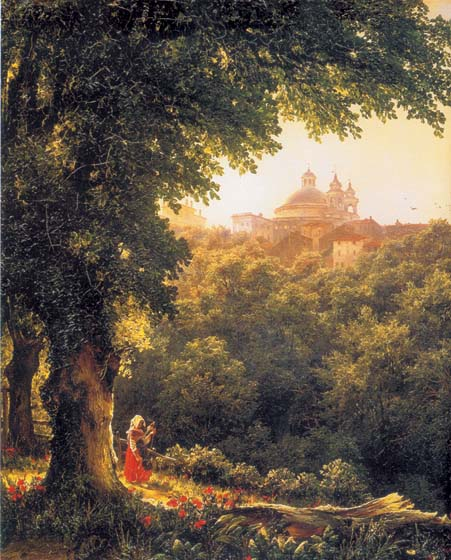 Aricca near Rome, 1836, Lebedev Mikhail, The Russian Museum, St.Petersburg paintings to artist of ArtRussia