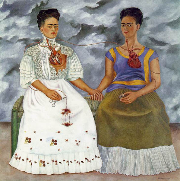 Two Frida, 1939, Kahlo Frida, Museum of Modern Art, Mexico City paintings to artist of ArtRussia