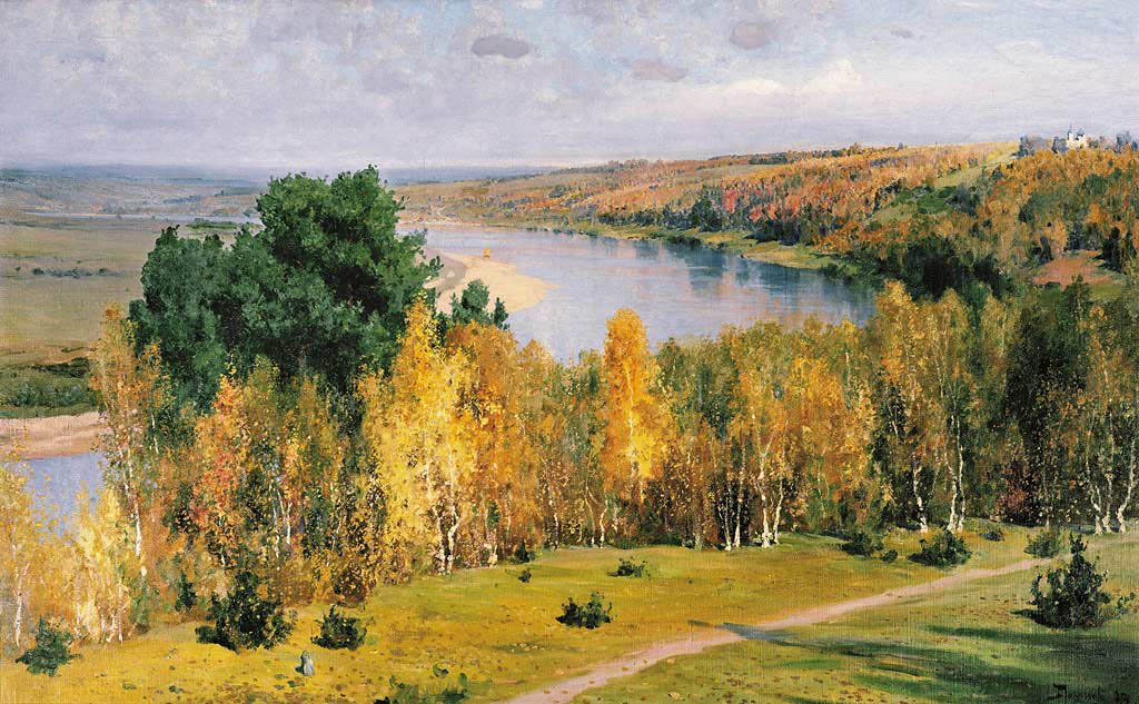 Golden autumn, 1893, Polenov Vasily, The State Polenov Museum, Polenovo paintings to artist of ArtRussia