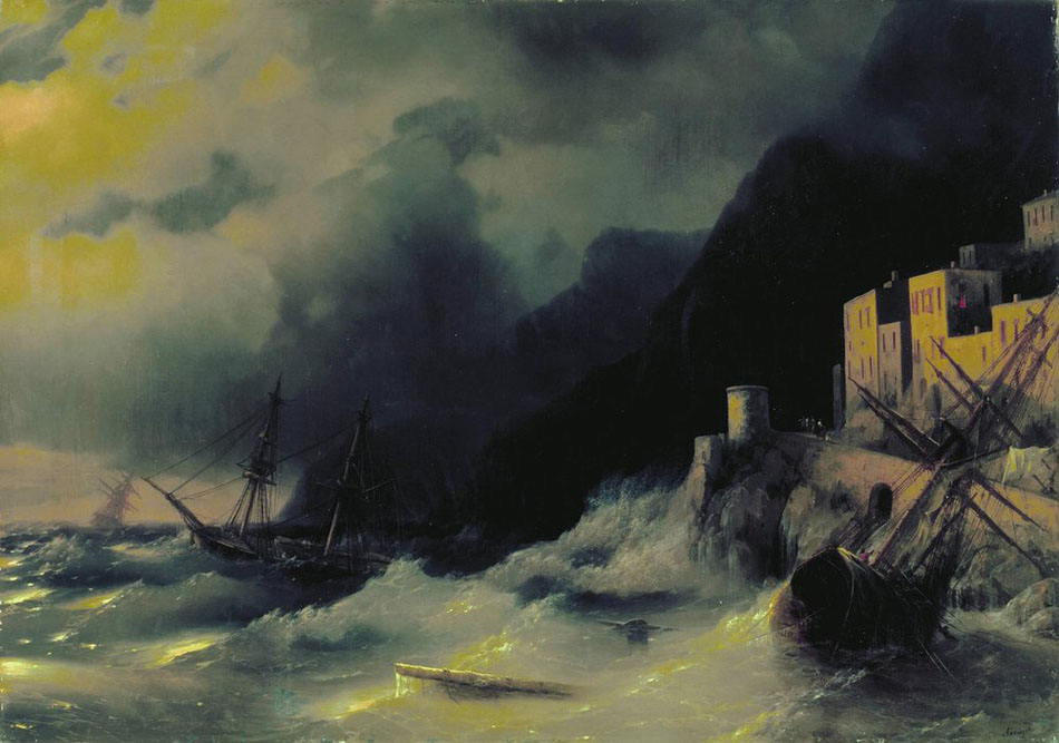 Storm at Sea, 1850, Aivazovskiy Ivan, National Gallery of Armenia, Yerevan paintings to artist of ArtRussia