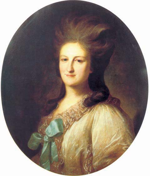 Portrait of V.E. Novosiltseva, 1780, Rokotov Fyodor, The Tretyakov Gallery, Moscow paintings to artist of ArtRussia