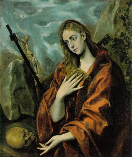 Repentance of Mary Magdalene, 1597, El Greco Doménikos, Del Cau Ferrat Museum, Barcelona paintings to artist of ArtRussia