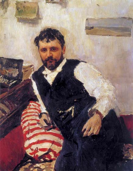 Portrait of artist Konstantin Alekseevich Korovin, 1891, Serov Valentin, The Tretyakov Gallery, Moscow paintings to artist of ArtRussia