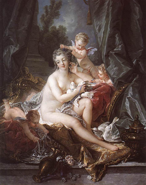 The Toilet of Venus, 1751, Boucher Francois, Metropolitan Museum of Art, New York paintings to artist of ArtRussia