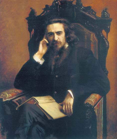 Portrait of philosopher Vladimir Sergeevich Soloviev, 1885, Kramskoy Ivan, The Russian Museum, St.Petersburg paintings to artist of ArtRussia