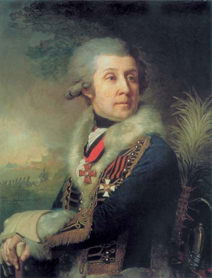 Portrait of Major-general Fiodor Borovsky, 1797, Borovikovsky Vladimir, The Russian Museum, St.Petersburg paintings to artist of ArtRussia