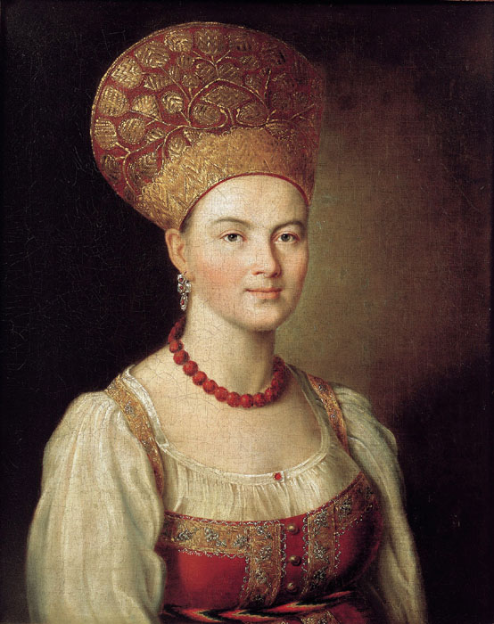 Portrait of an Unknown Woman, 1784, Argunov Ivan, The Tretyakov Gallery paintings to artist of ArtRussia