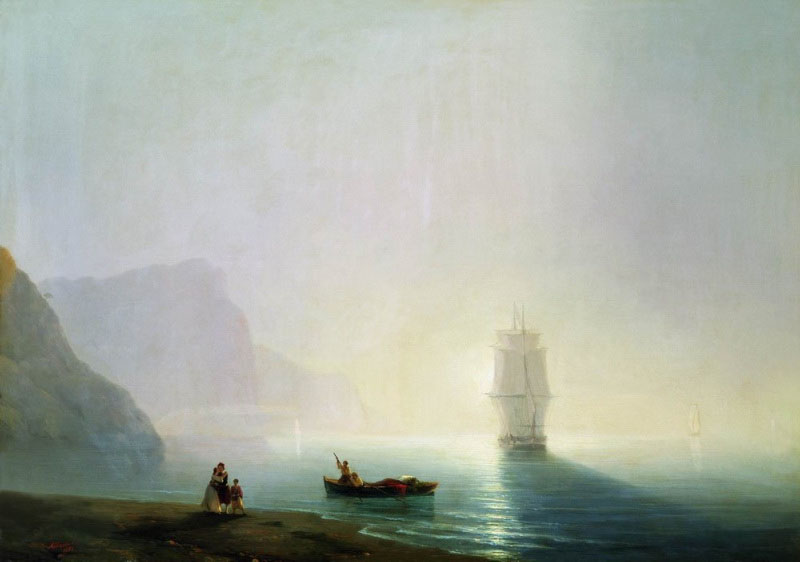 Morning on the sea, 1851, Aivazovskiy Ivan, The Art Museum, Odessa paintings to artist of ArtRussia