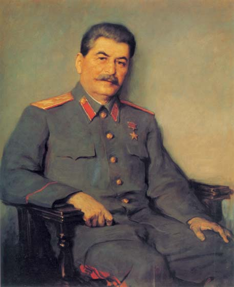 Portrait of Joseph Stalin, 1948, Oreshnikov Victor, The Russian Museum, St.Petersburg paintings to artist of ArtRussia
