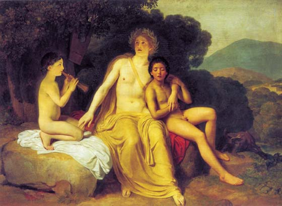Apollo, Hyacinthus and Cyparissus Making Music and Singing, 1834, Ivanov Alexander, The Tretyakov Gallery, Moscow paintings to artist of ArtRussia