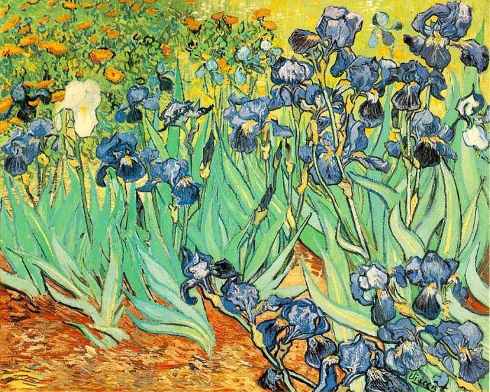 Irises, 1889, Van Gogh Vincent, Museum Jean-P.Getti, Los Angeles paintings to artist of ArtRussia